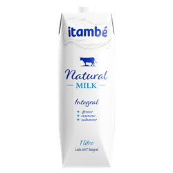Leite UHT Integral Natural Milk